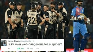 ICC World T20 2016: Twitterati slam India's batting approach in defeat against New Zealand at Nagpur