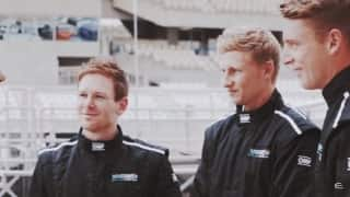 Video: Eoin Morgan, Joe Root and Jos Buttler in a pit stop challenge