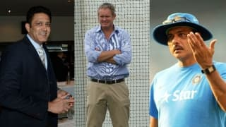 Anil Kumble was picked over Tom Moody, not Ravi Shastri