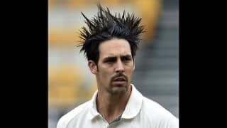 And you thought Mitchell Johnson can only bowl those deadly bouncers!