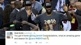 Virat Kohli, Mitchell Johnson and others cricketers hail LeBron James after Cleveland Cavaliers' victory in NBA final