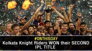 Kolkata Knight Riders attain glory for the second time in their IPL chronicle