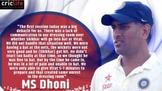 MS Dhoni reveals about 'unrest' in Indian dressing room