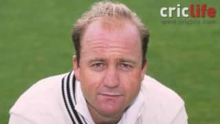 Mark Greatbatch proves a point to Tony Greig