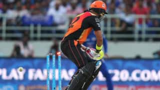 Video: Yuvraj Singh gets out freakishly in his 100th IPL match