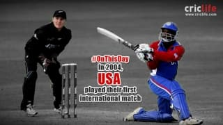 USA play their first international cricket match