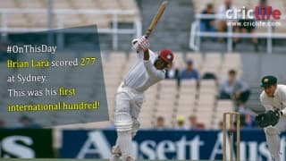 Brian Lara's majestic 277 at Sydney
