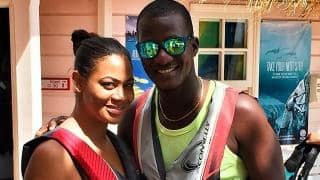 Darren Sammy spends a blissful weekend with wife Cathy