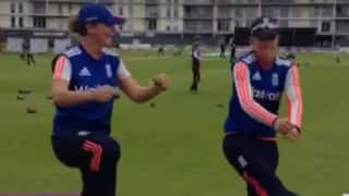 English women cricketers do a funny dance number!