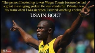 Usain Bolt, cricket and Waqar Younis