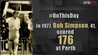 Bob Simpson becomes the oldest captain to score Test hundred