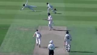 VIDEO: 'Wicketkeeper' Kumar Sangakkara takes ripper at first slip