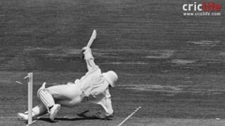 Fredericks out hit-wicket in the 1975 World Cup