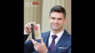 James Anderson honoured with OBE at Buckingham Palace
