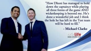 Michael Clarke gives his insight on MS Dhoni