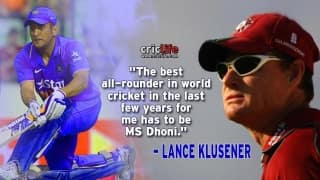 """Lance Klusener hails MS Dhoni as """"best all-rounder in the world"""""""