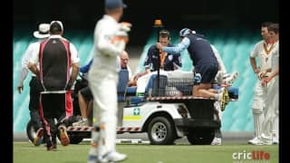 Video: Phil Hughes collapses after being hit by bouncer