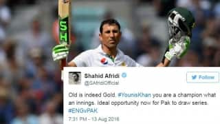 Cricket fraternity hails Younis Khan's double ton against England in 4th Test