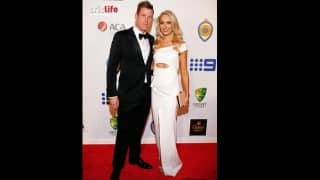 James Faulkner with partner Bri Sheppard