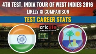 India tour of West Indies 2016, 4th Test at St Lucia: Likely XI comparison