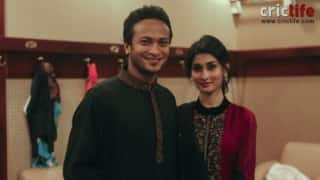 Shakib ​Al Hasan with wife Umme Ahmed Shishir