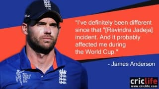 James Anderson says the 'Ravindra Jadeja' incident had an impact on him during the World Cup