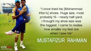 Mohammad Irfan clears Mustafizur Rahman's 'misconception' about his shoe size