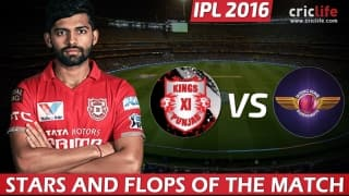 IPL 2016, Match 10: Kings XI Punjab beat Rising Pune Supergiants by 6 wickets at Mohali, Stars and Flops