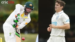 Phil Hughes had welcomed a debutant Sean Abbott in the New South Wales dressing room