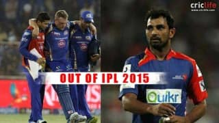 Mohammed Shami, Aaron Finch ruled out of IPL 2015