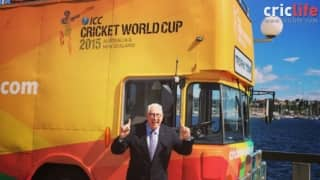 Max Walker pays visit to World Cup Trophy tour