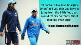 'Will jump from 24th floor if MS Dhoni asks me to,' says Ishant Sharma