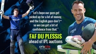 Faf du Plessis' high hopes ahead of IPL auction; but that does not help