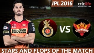 Sunrisers Hyderabad beat Royal Challengers Bangalore to win IPL 2016, Stars and Flops