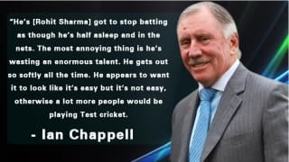 'Rohit Sharma is wasting his talent', says Ian Chappell