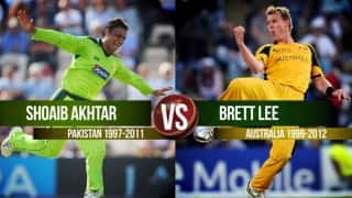 Video: Who is greater, Brett Lee or Shoaib Akhtar?