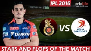 IPL 2016, Match 11: Delhi Daredevils beat Royal Challengers Bangalore by 7 wickets at Bangalore, Stars and Flops