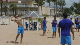 PHOTOS: Team India gets going in the Caribbean with Yoga and beach volleyball