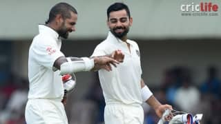 Shikhar Dhawan and Virat Kohli steal the show on day two of the Galle Test