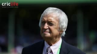 Richie Benaud's final Test as commentator