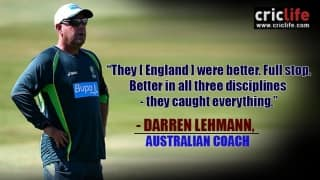 """Darren Lehmann labels Cardiff defeat as """"minor hiccup""""; admits Australia were outplayed"""