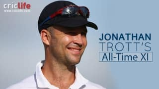 Steve Waugh to captain, Gilchrist over Sangakkara and Tendulkar at No.4 in Jonathan Trott's All-Time XI