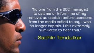 When Sachin Tendulkar was removed as the Indian captain