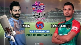 ICC World T20 2016, Super 10, Pick of the Tweets: India vs Bangladesh at Bangalore