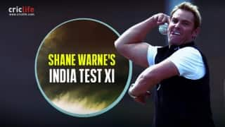 "Shane Warne picks old foe Sourav Ganguly as captain of his greatest ever Indian Test team; names ""great friend"" VVS Laxman as 12th man"