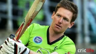 Eoin Morgan invents a new cricket shot!
