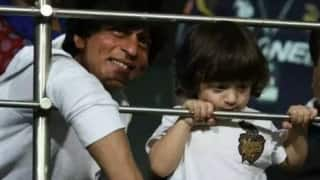Watch: Shah Rukh Khan's son AbRam indulges in sword-fight with Parineeti Chopra during KKR-RCB match