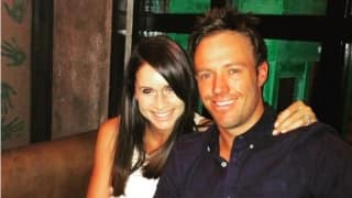 "Photo: AB de Villiers and wife Danielle enjoy ""a fun evening"" at Mohali"