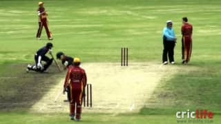 One ball and three injured players!