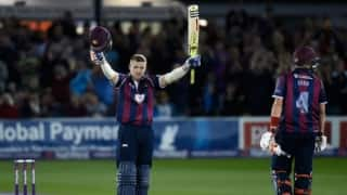 Highlights: David Willey scores hundred off 40 balls